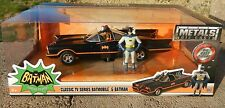 1:24 JADA Metals *BATMAN* Classic TV Batmobile w/Batman & Robin Figures *NIB*