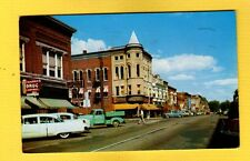 Columbia City,IN Indiana, looking east on Van Buren, 1950's cars & Pickup Truck