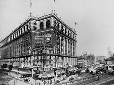 Old New York City Photo Macy' s Broadway Herald Square Elevated Train1906  8x10