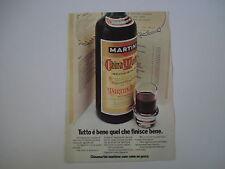 advertising Pubblicità 1973 CHINA MARTINI