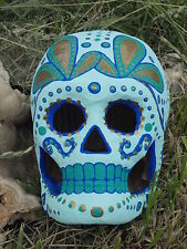 OOAK Sugar Skull; Hand-painted Dia de los Muertos; Day of the Dead Art