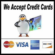 """We accept Credit Cards Decal 14"""" Concession Food Truck Restaurant Sticker"""