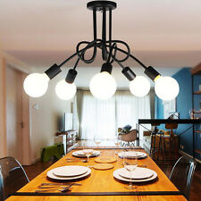 5 Heads DIY Modern Pendant Light Ceiling Lamp Hanging Chandelier Light Fixture
