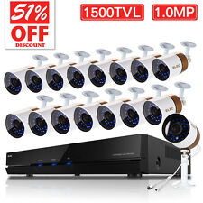 ELEC® Wired Home Outdoor Security Camera System 1500TVL16CH 960H HDMI CCTV DVR