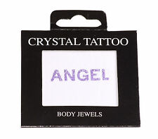 ANGEL'' Sparkly - Cute Purple Glittery Stick on Body Jewel/vajazzle (Zx99/228)