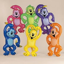 6 MONKEY inflatables ASSORTED COLOR Gifts/Decor/Safari