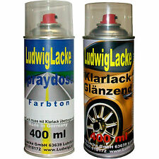 2 Spray in Set 1 Autolack1 Clear varnish 400ml for RENAULT 11A Bianco Artika