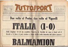 rivista TUTTOSPORT - 10/06/1963 N. 158 ITALIA 1-0