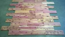 "40 sq ft Aromatic Cedar 1/2"" Wood Wall Plank T&G Paneling 18"" Long Really Nice"