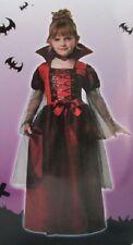 RED VAMPIRESS GIRLS COSTUME Small 4-6 Complete Vampire Gothic Child Kids NEW