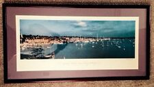 NEWPORT HARBOR WITH CLOUDS FRAMED PRINT, NEWPORT, CT, ONNE VAN DER WAL, SIGNED