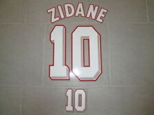 Flocage ZIDANE pour maillot équipe de France de 1996 1998 2000 2004 patch foot
