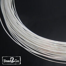 1m 925 Sterling Silver Wire 24ga Round, Half Hard- 92.5% Pure Wholesale