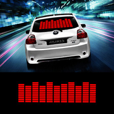 45*11cm Red Car Sticker Music Rhythm LED Flash Lamp Sound Activated Equalizer
