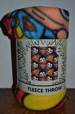"Superman Man of Steel Pop Art Fleece Throw Blanket 50"" x 60""  Licensed DC Comics"