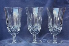 "Waterford Crystal LISMORE Set of 3 Stemmed Iced Tea Glasses - 10 oz - 6½"" Tall"