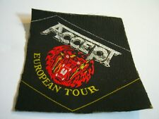 ACCEPT – very rare old original 80s EUROPEAN TOUR, UNCUT Patch!