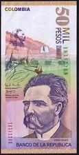 2000 COLOMBIA 50000 PESOS BANKNOTE * 18352288 * gVF-EF * P-449a *