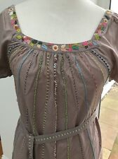 Beautiful antik batik Summer dress Size Medium Belted Bust 34""
