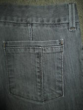 EDDIE BAUER Trouser Stretch Light Gray Denim Jeans Womens Size 4 R x 31
