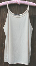 NUDE PEACH GLITTER STRAPPY CAMI TOP BLOUSE SHIRT SIZE 10 BNWT