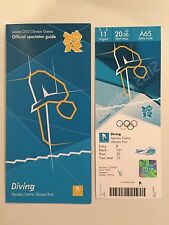 LONDON 2012 TICKET DIVING TOM DALEY GOLD 11AUG £450 PLUS SPECTATOR GUIDE *MINT*
