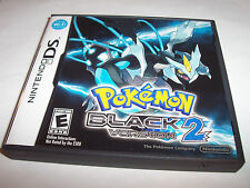 Pokemon Black 2 Version (Nintendo DS) Lite DSi XL 3DS 2DS w/Case (No Manual)