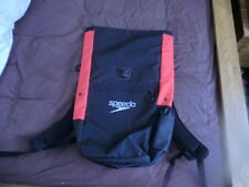 speedo red and black backpack padded back and shoulders