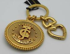 NWT Juicy Couture LARGE GOLD CROWN COIN MEDALLION CHARM KEY FOB Chain $48 Retail