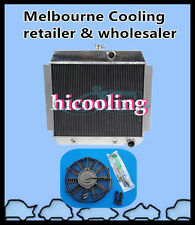 """3 Core Aluminum Radiator + 16""""FAN for CHEVY V8 W/COOLER AT 1951 1952 1953 1954"""