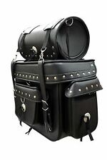 Studded Motorcycle Sissybar Bags Travel Luggage Roll Bag Quick Release Rk-Sbb301