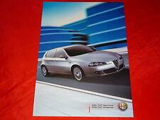 """ALFA ROMEO 147 """"sportiva + eleganza"""" speciale modelli prospetto di 2006"""