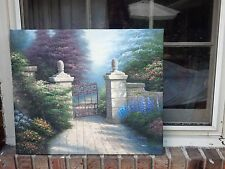"OIL Painting-Beautiful  Garden Gate- Landscape-Kincaid Style-20""x24"