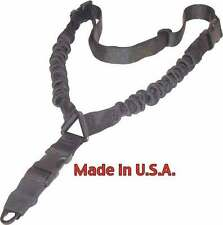 Tactical One Single Point Sling Adjustable Bungee Rifle Gun Sling Strap Hunting