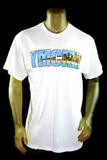 NEW YMCMB YOUNG MONEY casual short Sleeve BEACH LOGO TSHIRT white crewneck *L