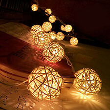 20 LED Battery Power Cotton Balls Fairy String Lights Party Wedding Home Decor