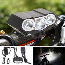 7500LM 3x CREE XML T6 LED Bike Bicycle Headlight HeadLamp Torch +Battery+Charger
