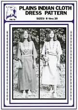 Women's Plains Indian Cloth Dress 8-20 w/Variations Eagle's View Sewing Pattern