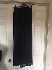 BN Forever 21 Chiffon Wide Leg Elegant High Waisted Trousers - Black Size 8-10