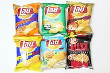 Mix 6 Flavor, 6 x 27g, Lays Potato Chips Crispy Fried Snack Only in Thai