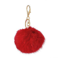 Chic Keyring Pompom Keychain Charm Ball Faux Soft Rabbit Fur Handbag Pendant Hot
