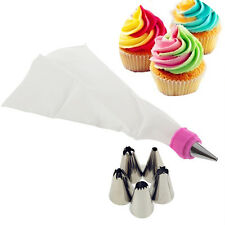 Hot Cake Cupcake 5pcs Icing Piping Nozzles Tips Decorating Bag Kitchen Tool Set