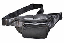 Leather Bum Bag Money Belt Waist Pouch Travel Bumbag Holiday
