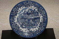 "10"" ROYAL TUDOR WARE BLUE WHITE PLATE 'BOWAN'S BREWERY' 17th Century England"