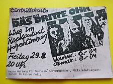 ^°^ Alte Eintrittskarte DAS DRITTE OHR 1980 Hohenlimburg Hagen Ticket