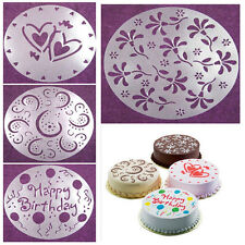 Eco Friendly 4 Styles Flower Heart Cake Stencils Mold Decorating Mode Bakery