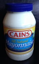 CAINS Mayonnaise Mayo New England Boston 15 oz Jar Caines Food Condiment Canes