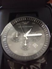 100% NEW Emporio Armani AR5889 Men's Sportivo Chronograph Black & Grey Watch