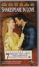 VHS - SHAKESPEARE IN LOVE - GWYNETH PALTROW - COLIN FIRTH - BEN AFFLECK