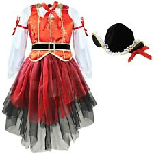 Kids Girls Pirate Fairy Halloween Costume Outfits Fancy Dress Up Party Clothes
